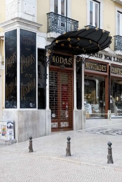 Lisbon's architecture, signs and storefronts. Quest - Im Wandel Der Zeit. Oliver Lins