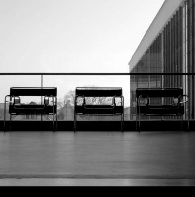Bauhaus Dessau, Furniture in hallway, Quest - Im Wandel der Zeit,Oliver Lins