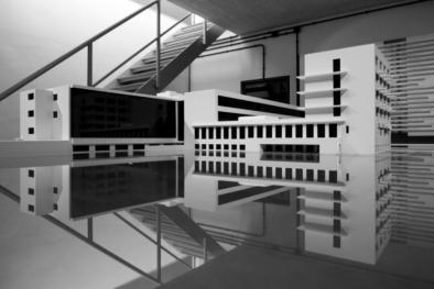 Bauhaus Dessau, architectural model, Walter Gropius, Oliver Lins